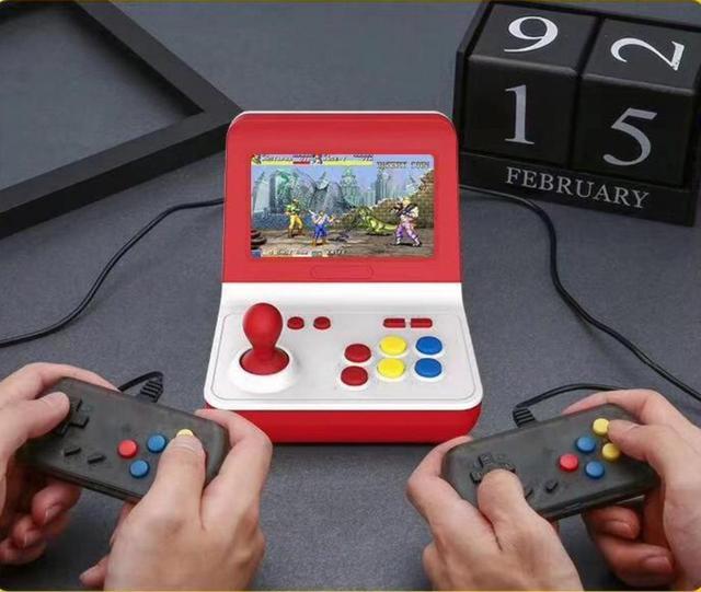 المحمولة الرجعية وحدة تحكم بجهاز لعب محمول صغير 4.3 بوصة 16 جرام 2000 ألعاب الفيديو الكلاسيكية الأسرة لعبة وحدة التحكم هدية الرجعية ممر