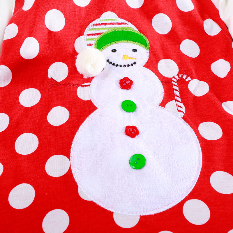 H8c8cb8af0c4c4f2580f77c11430b869dI 2-6T Santa Claus Christmas Dress Kids Party New Year Costume Winter Snowman Baby Girl Clothes Christmas Tree Children Clothing
