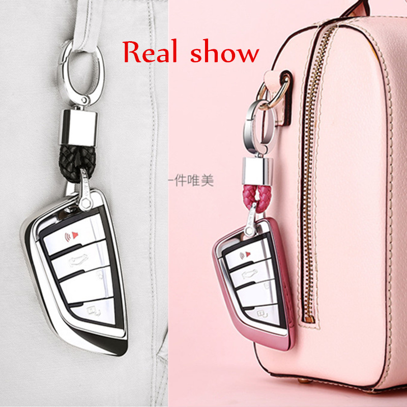 Image 5 - Soft TPU Car Key Case Key Cover Key Shell Protector for BMW X5 F15 X6 F16 G30 7 Series G11 X1 F48 F39 Accessories Car Styling-in Key Case for Car from Automobiles & Motorcycles