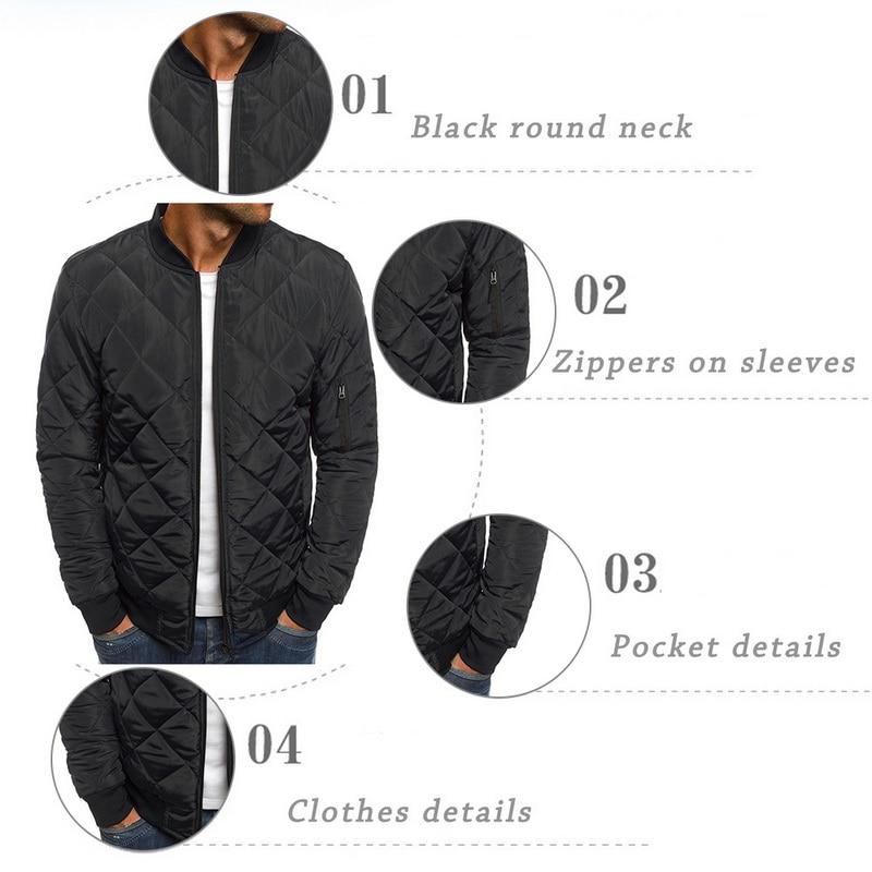 H8c8cbb6263474afcb1ff03ae856b4f19N 2019 Autumn Winter Jacket Men Warm Coats Streetwear New Male Lightweight Windproof Packable Jacket hip hop baseball Coat Outwear