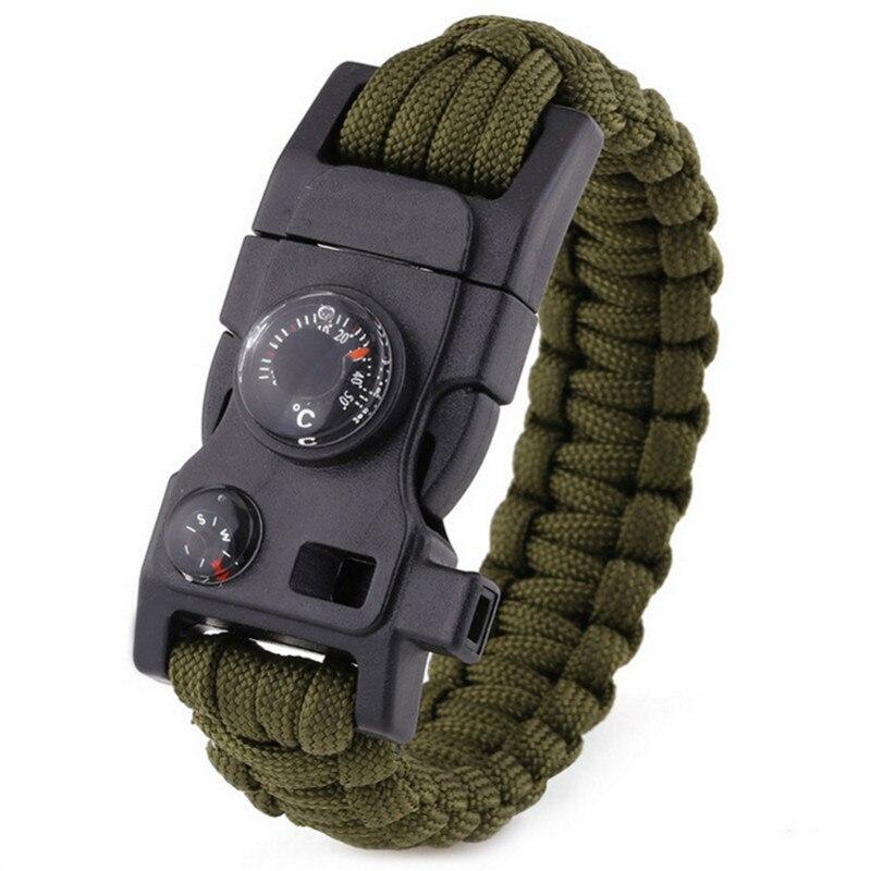 15 In 1 Paracord Survival Bracelets Multi-function Military Emergency EDC Bracelets Camping Rescue Escape Tactics Wrist Straps