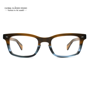 Image 2 - Classic Eyeglasses Frames Acetate Men Prescription Glasses Retro Myopia Glasses Patchwork Designer Optical Frames Eyewear 617g