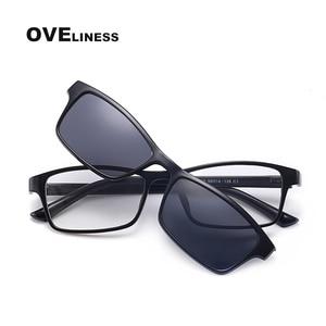 Image 4 - Поляризованные Магнитные очки для женщин и мужчин, солнцезащитные очки на магнитной застежке, очки для близорукости по рецепту, солнцезащитные очки 2020