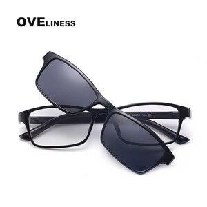 Image 4 - Gafas de sol magnéticas polarizadas con Clip para hombre y mujer, anteojos con montura óptica graduada para miopía, 2020