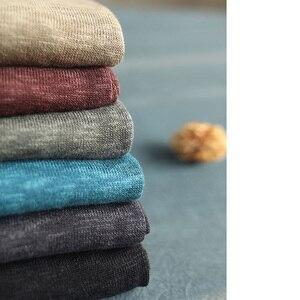 Image 5 - Johnature pull à capuche pour femmes, pull à manches longues, style Patchwork, tricot en coton, vêtement coréen, 7 couleurs, automne 2020