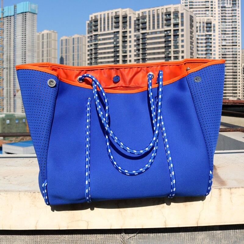 Роскошная женская сумка из неопреновой ткани для дайвинга, сумка на плечо, новинка 2021, вместительная Повседневная Сумка-тоут, сумки с верхни...
