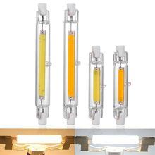 Lâmpada de vidro conduzida da espiga do tubo de r7s 78mm 20w 118mm 40w r7s lâmpada de milho j78 j118 substituir a luz de halogênio 50w 100w ac 220v 230v lampadas