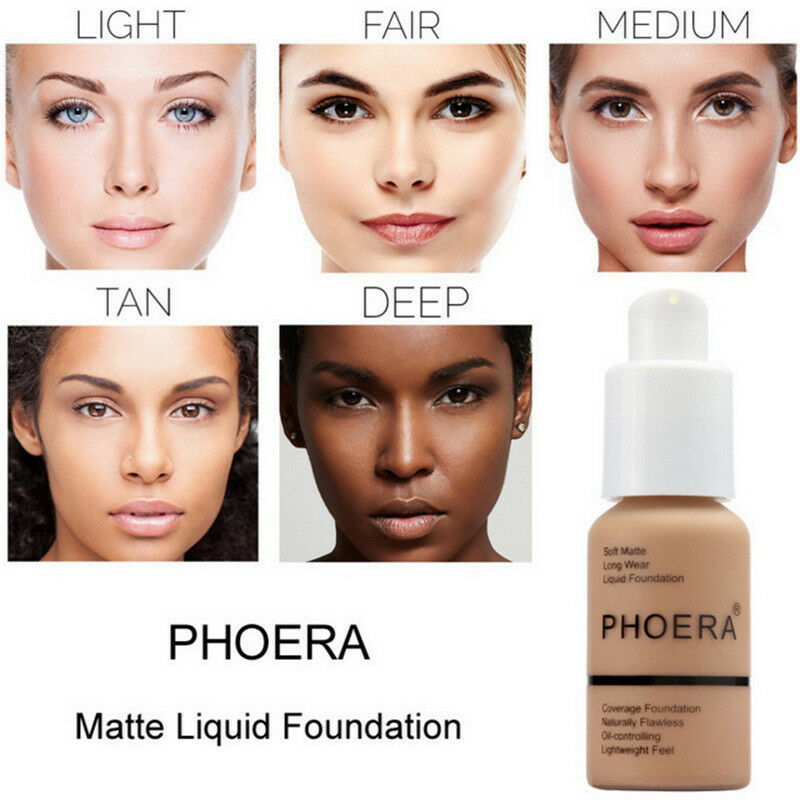 Phoera 30ml Face Foundation Base Makeup Matte Oil Control Concealer Full Coverage Liquid Foundation Cream Cosmetics Maquiagem 5