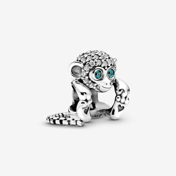 2020 HOT 100% 925 Sterling Silver Pave Monkey Charm fit Original Pandora Bracelets Jewelry Women Birthday Gift