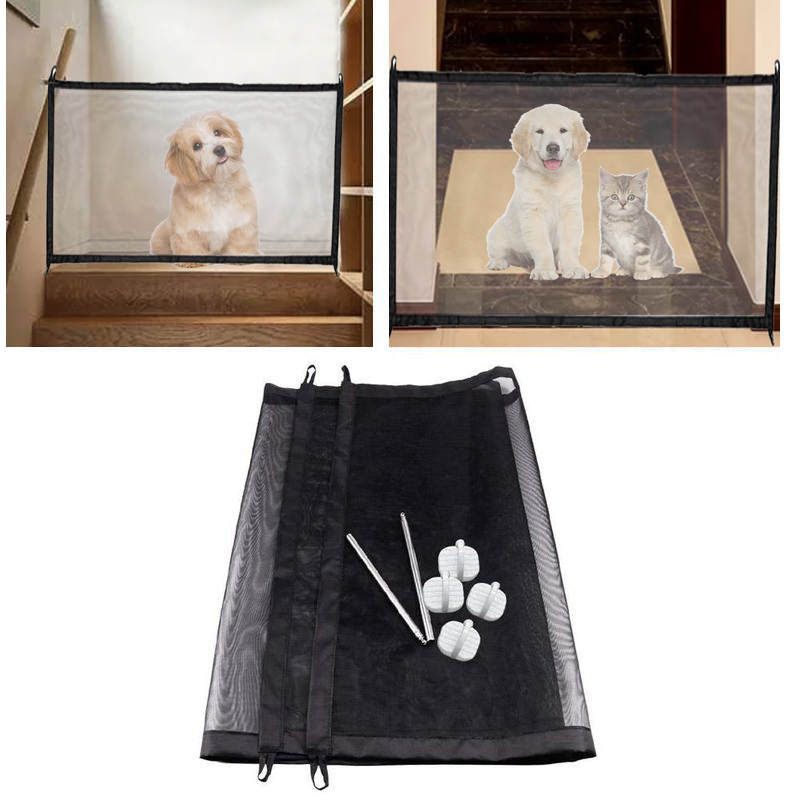 2019 Magic Pet Dog Gate Pet Fence Barrier Folding Safe Guard Indoor Outdoor Puppy Dog Separation Protect Enclosure Pet Supplies