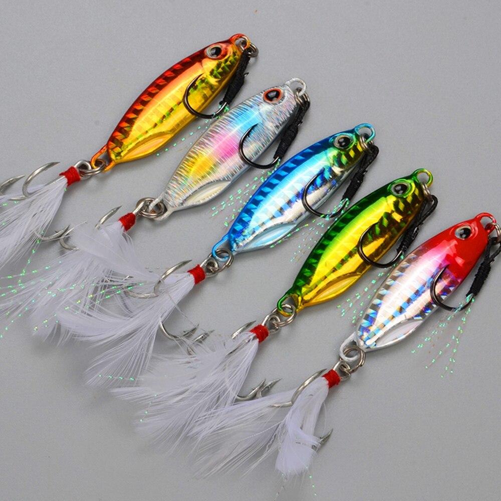 5pcs Japan Quality Slow Jigging Lures Lead Fish 10g/15g/20g Jigging Spoon Fishing Wobblers Shore Artificial Bait Leurre Peche
