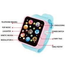 6 цветов, Детские Игрушки для раннего образования, наручные часы, 3D сенсорный экран, музыка, умное обучение ребенка, горячая Распродажа, подарки на день рождения