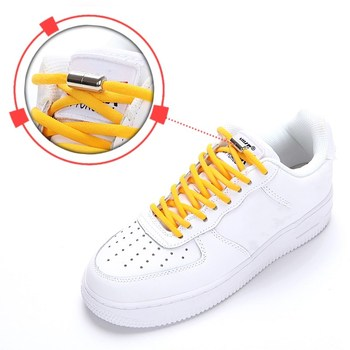 1 Pair No Tie Shoelaces Round Elastic Shoe Laces Fit Kids and Adult Sneakers Shoelace Lazy Laces Shoe Strings Shoe Accessories darseel shoe accessories shoelaces tax