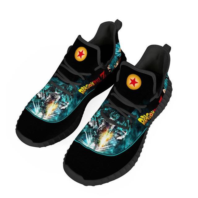 Zapatillas deportivas transpirables con diseño personalizado para hombre, zapatos masculinos para correr con diseño de dibujos animados de Anime, liviano para correr, Vegeta 3