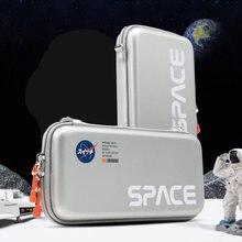 Аэрокосмическая сумка для хранения Nintendo Switch, чехол для переноски, водонепроницаемый жесткий чехол, чехол для игр NS Lite, аксессуары для перекл...