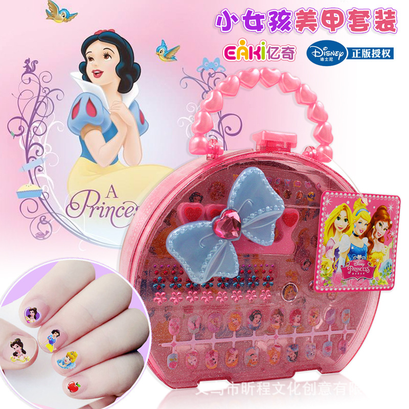 Yiqi Deluxe Edition Princess Nail Sticker Little Girl Play House Environmentally Friendly Waterproof DIY Adhesive Manicure Safe|Bicycle Bags & Panniers| |  - title=