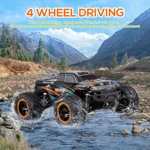 Image 5 - Linxtech 16889 1/16 RC Auto 45km/h Motore Brushless 4WD RC Auto Da Corsa Big Foot Off Road Auto Giocattolo di RC per I Bambini di Età VS Wltoys 12428