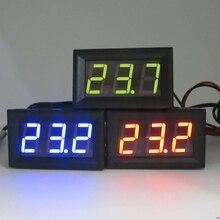 Цифровой светодиодный термометр-50- 110 градусов, 12 В постоянного тока, панель контроля температуры автомобиля, измеритель