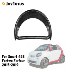 Car Dashboard Frame For Smart 453 fortwo forfour 2015 2019 Speed Meter Fuel Meter Decorative Frame Car Styling Accessories