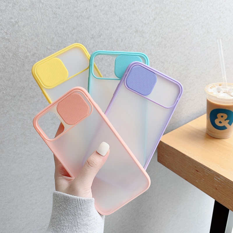 Camera Lens Protection Phone Case on For iPhone 11 Pro Max 8 7 6 6s Plus Xr XsMax X Xs SE 2020 Color Candy Soft Back Cover Gift
