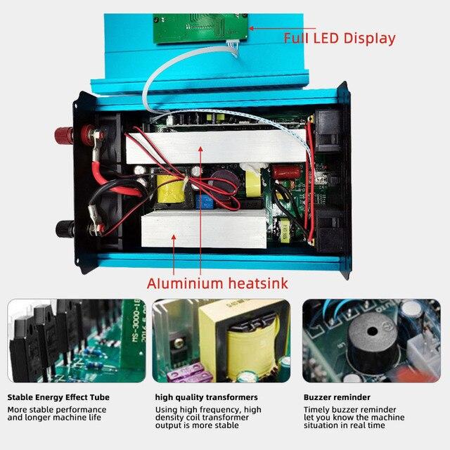 Inverter 12v 220v 12V/24V Pure sine wave solar power inverter 2000W/3000W/4000W/6000W Dc 12v to Ac 220v Car inverter LCD Display