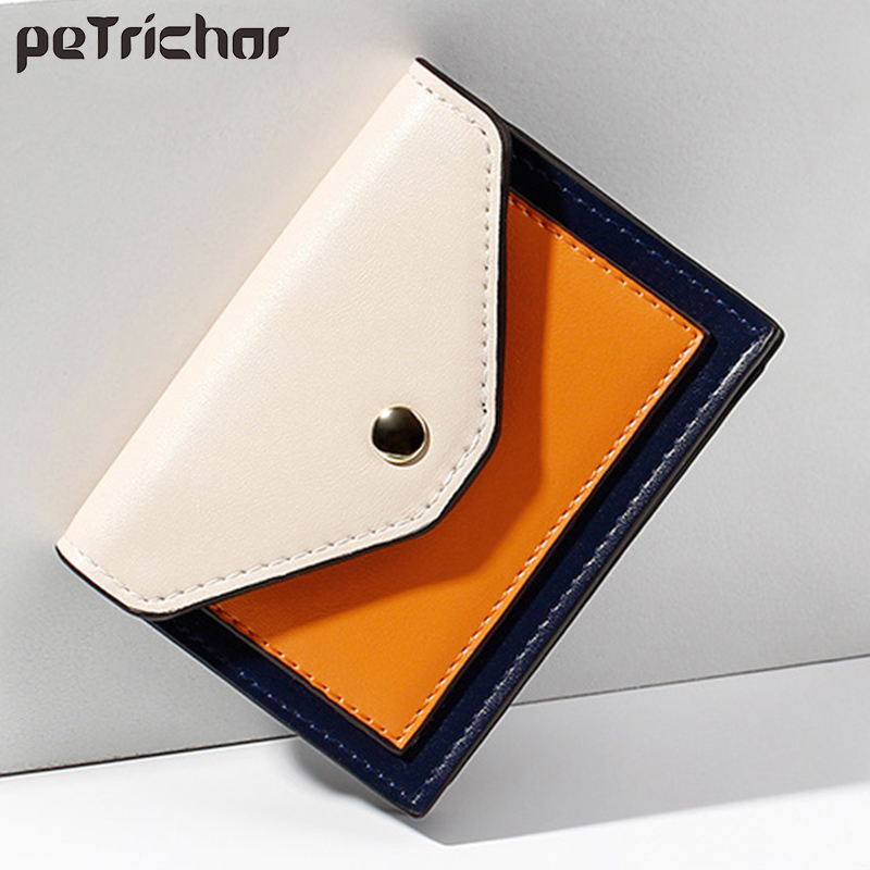 Brand Women Wallet Short Purse Small PU Leather Credit Card Holders Slim Envelope Female Wallets Coin Pocket Fashion Clutch Bags