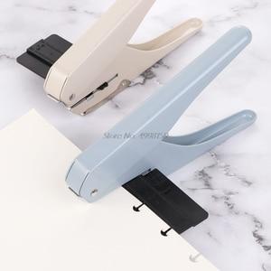 Image 5 - Perforadora de papel tipo T con agujero De Seta para oficina, hoja suelta, bricolaje, suministros escolares, perforadora de álbumes de recortes, envío directo