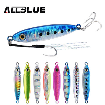 ALLBLUE 2020 Little Bit Micro Cast Jig 5g 7g 10g 14g Shore Metal Jigging Spoon Fishing Lure Lead Artificial Bait Casting Tackle little lux korea 10g 100