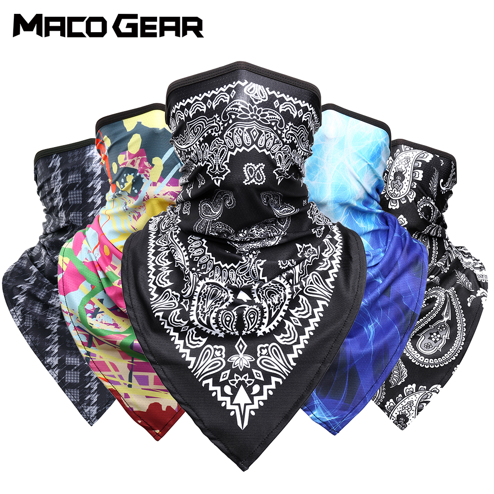 Fashion Sport Scarf Cycling Bandana Hiking Hunting Military Tactical Airsoft Neck Cover Gaiter Women Men Half Face Mask Summer