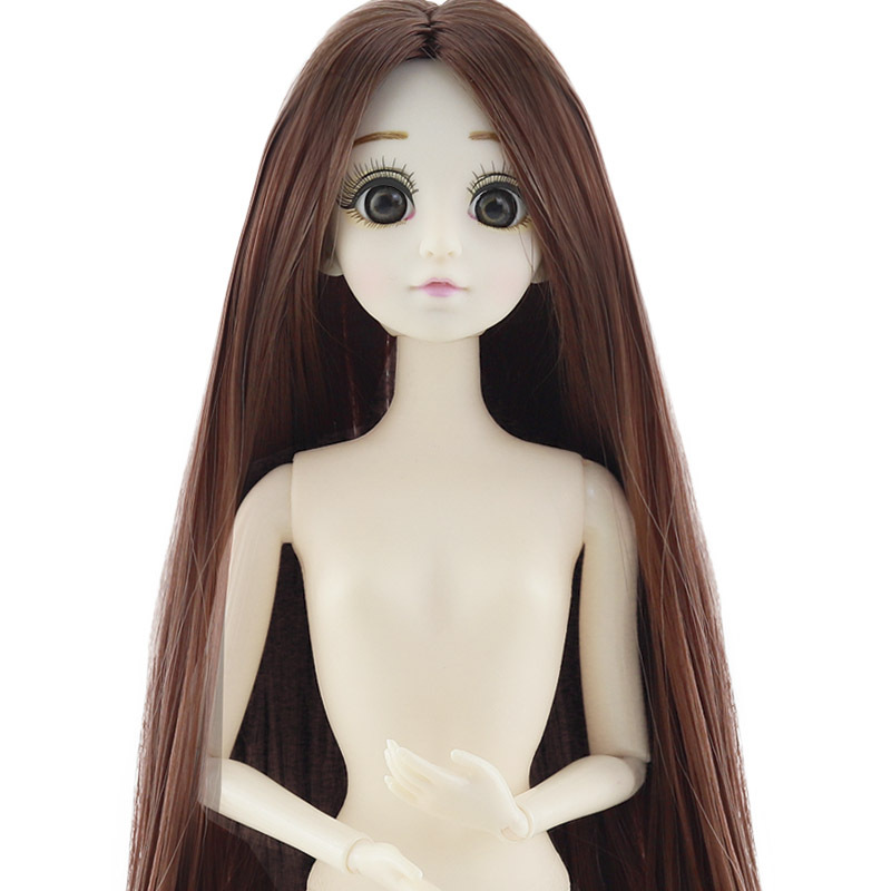 1/6 BJD Dolls 20 Ball Joint Doll With 3D Eyes 30cm Doll Long Wig Hair Female Naked Nude Body Dolls Toy For Girls Fashion Doll