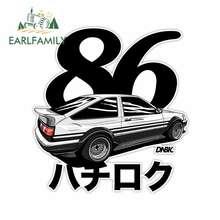 EARLFAMILY 13cm x 11.8cm japon çıkartması vinil japonya İlk AE86 BRZ çıkartmalar Takumi Fujiwara Tofo dükkanı çıkartmaları JDM sürüklenme yarış