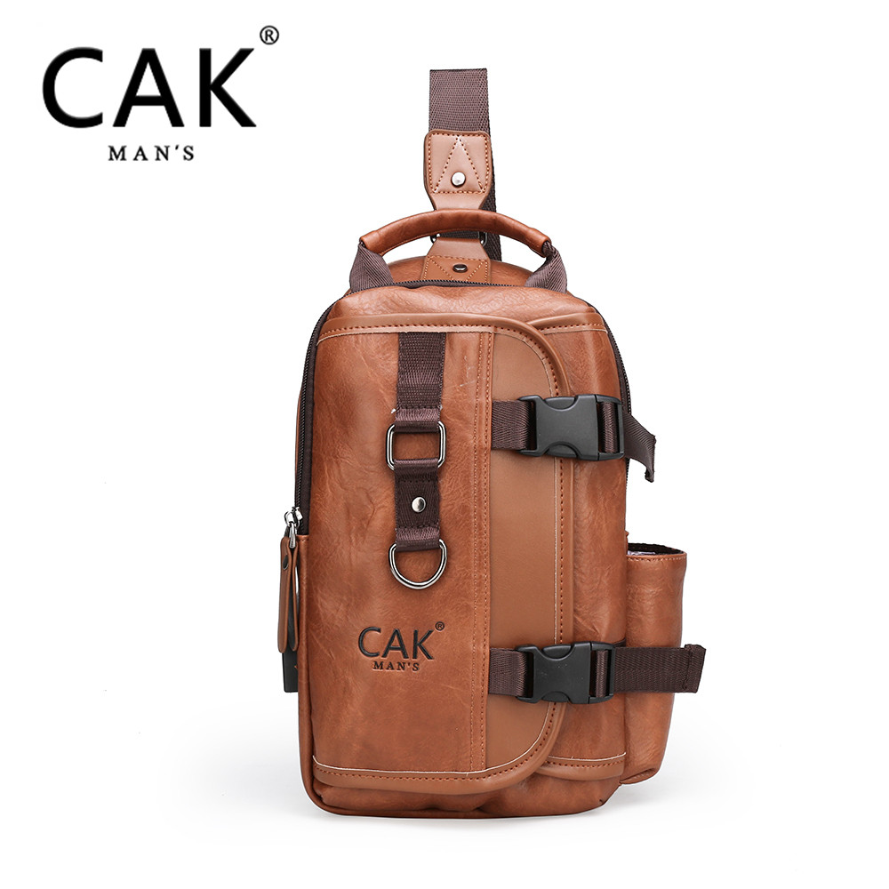 CAK iPad men's waterproof travel chest bag packaging, new multi-functional cross-body hanging bag, suitable for men's anti-theft