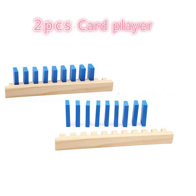 120 шт деревянные строительные блоки домино, детские игрушки, обучающие игрушки Монтессори для мальчиков, игровой набор домино, подарок - Цвет: 2 pcs