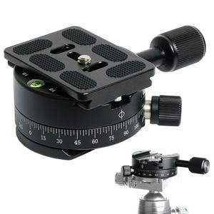 Image 5 - Camera Clamp Panoramisch Schieten Klem Statief Monopod Quick Release Plate Mount Draaien Klem Voor Arca Plaat Dslr Camera Statief
