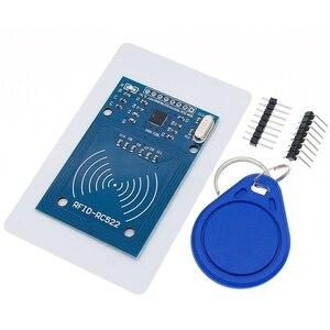 Image 5 - Darmowa wysyłka 50 sztuk MFRC 522 RC522 RFID RF karta elektroniczna moduł czujnika, aby wysłać Fudan karty, moduł Rf brelok
