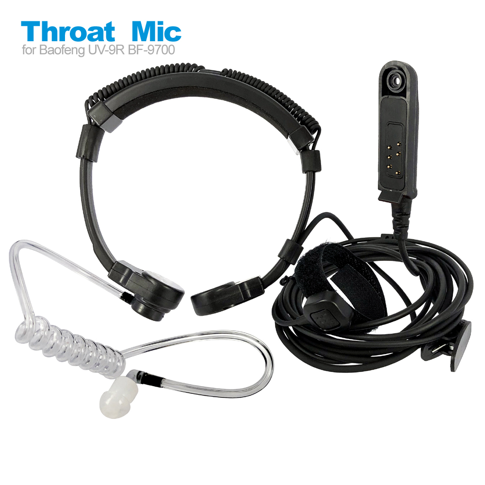 Radio Baofeng UV-9R Plus Talkie-Walkie Air Tube Throat Vibration Headset Headphone For UV-XR A-58 GT-3WP Walkie Talkie Earpiece