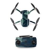 Estilo colorido adesivo de pele para dji mavic mini drone e controle remoto decalque vinil skins capa m0089 Decalques de drone da câmera     -