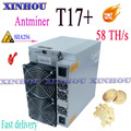 Antminer T17+ 58T Asic sha256 miner Bitcon BTC miner better than S9 T17 S17 S19 K5 Innosilicon T2T T3 Whatsminer M20S M21S M30S