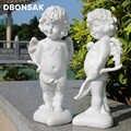 Della resina di Angelo di Amore di Dio Cupido Figurine Artigianato Carattere Statua Giardino Esterno Statua Della Decorazione Cortile Parco Villa Decorazione