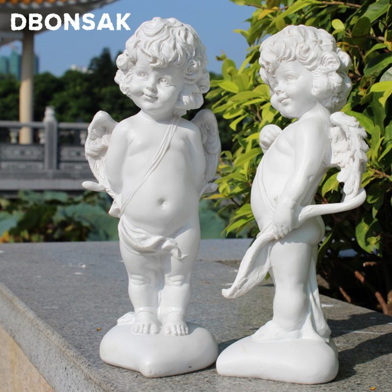 Resin Angel Love God Cupid Figurines Crafts Character Statue Outdoor Garden Statue Decoration Courtyard Park Villa Decoration