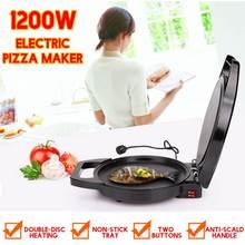 220V 1200W электрическая машина для приготовления Блинов Автоматическая двухсторонняя выпечка пиццы портативная Бытовая вафельница Горячая