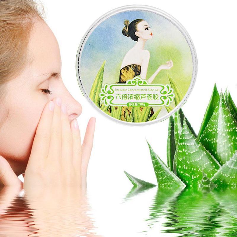 100% Pure Natural Aloe Vera Gel Smoothing Moisture Repair Cream Sunblock Face Acne Treatment Gel for Skin Repairing 30ml 3