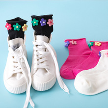 Socks Women Flower Cute Female Funny Japanese Kawaii Stitch Streetwear Christmas Spirited Away Fashion