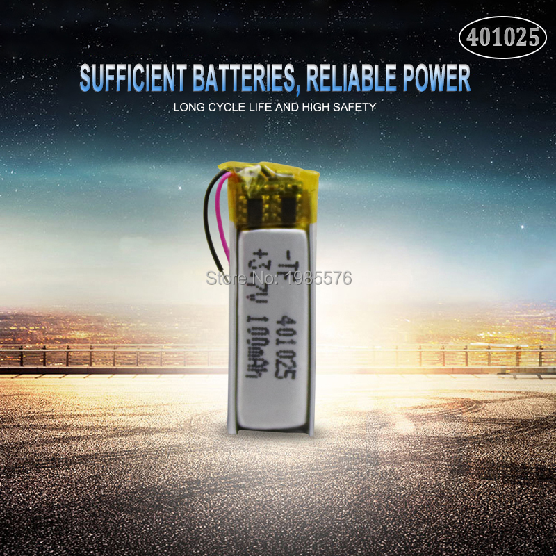 3.7V 70mAh <font><b>401025</b></font> PLIB Polymer Lithium ion / Li-ion Battery for GPS MP3 MP4 MP5 DVD Bluetooth Model Toy Mobile Bluetooth image