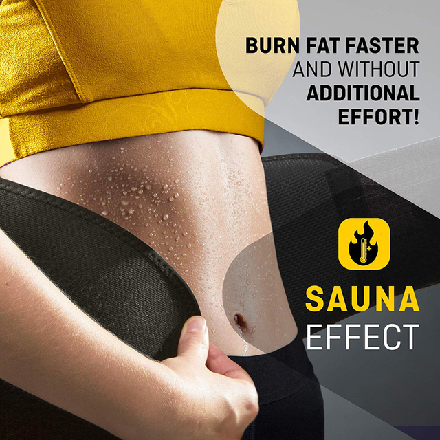 Tcare Neoprene Slimming Lumbar Waist Trimmer Belt Weight Loss Sweat Band Wrap Fat Tummy Stomach Sauna Sweat Belt For Gym Fitness 1