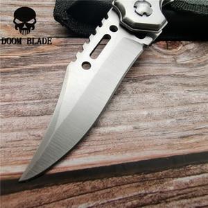 Image 5 - 200mm 5CR15MOV ostrze szybkie otwieranie noże kieszonkowe taktyczne nóż składany Survival polowanie scyzoryk na Camping z LED nowy