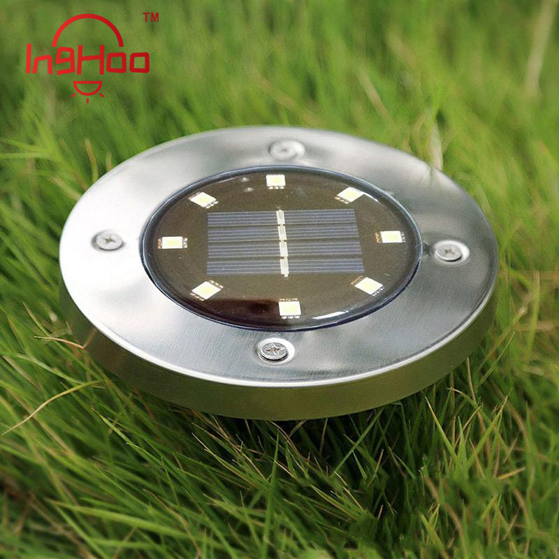 Inghoo Buried Light 8 LED Solar Lantern Outdoor In-ground Lamp Waterproof For For Lawn,pathway,yard,driveway