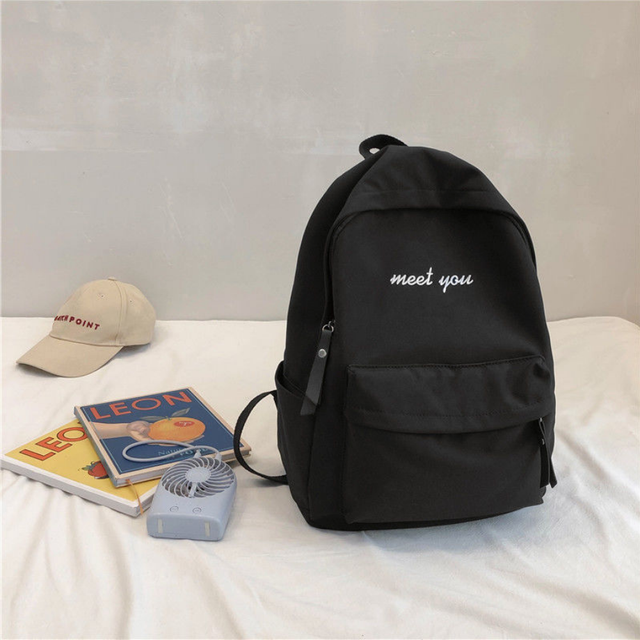 P014 Ladies cotton canvas backpack