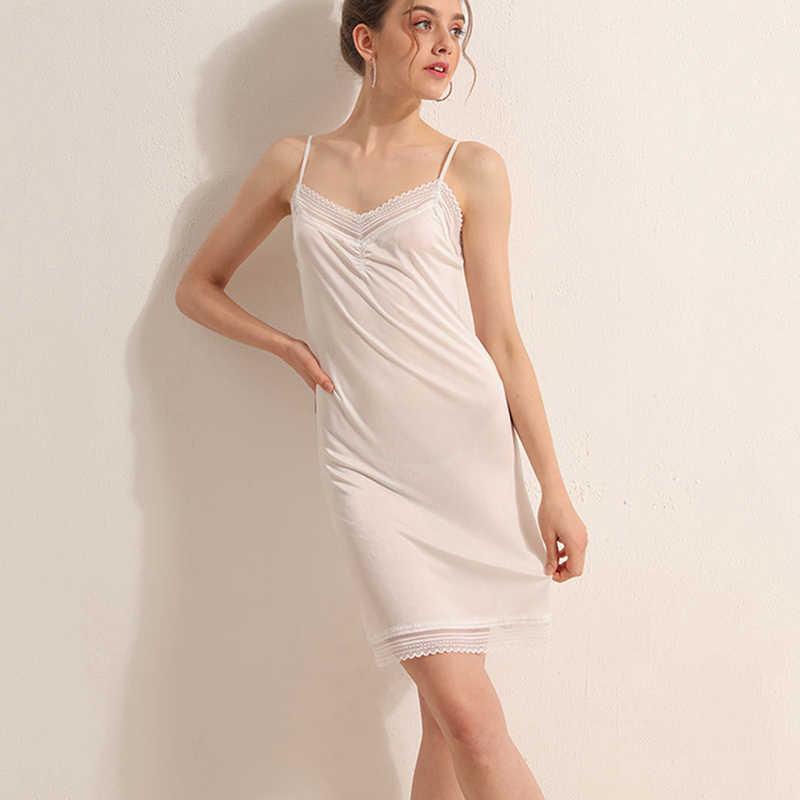 Full slips underdress Natural real silk