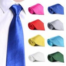 Классические солидные шелковые галстуки для мужчин повседневные